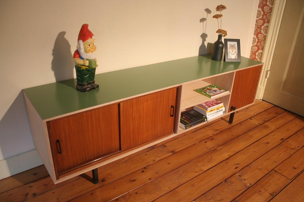 Buitenoosten multiplex tv meubel met vintage elementen u ac
