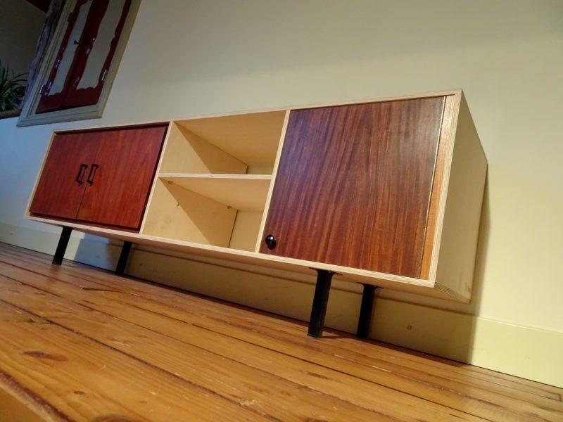 Vintage dressoir multiplex, verkocht
