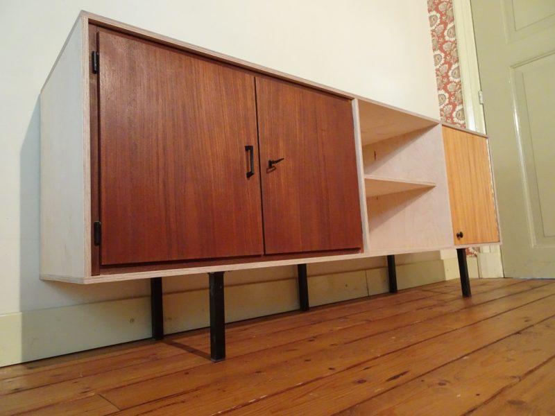 Industriëel design dressoir, verkocht